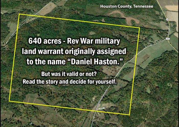 "17 – The ""Daniel Haston"" Revolutionary War Land Grant"