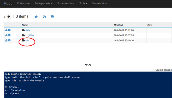 Azure App Service: View and Edit the deployed web config