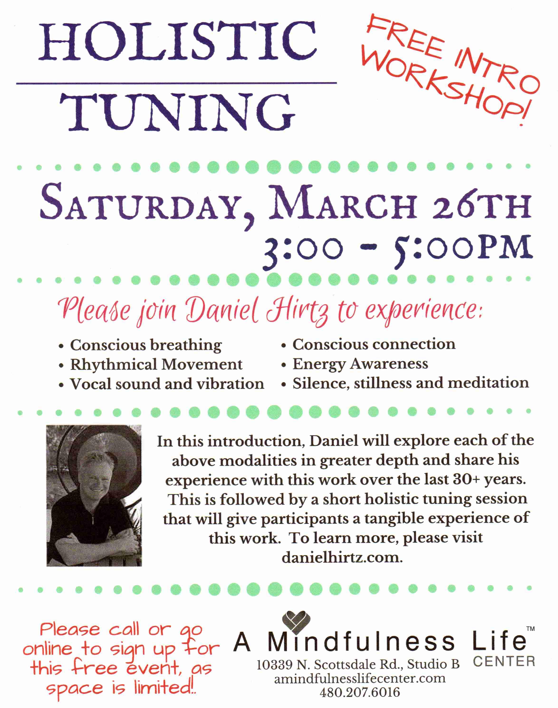 Holistic Tuning - Free Introduction Workshop