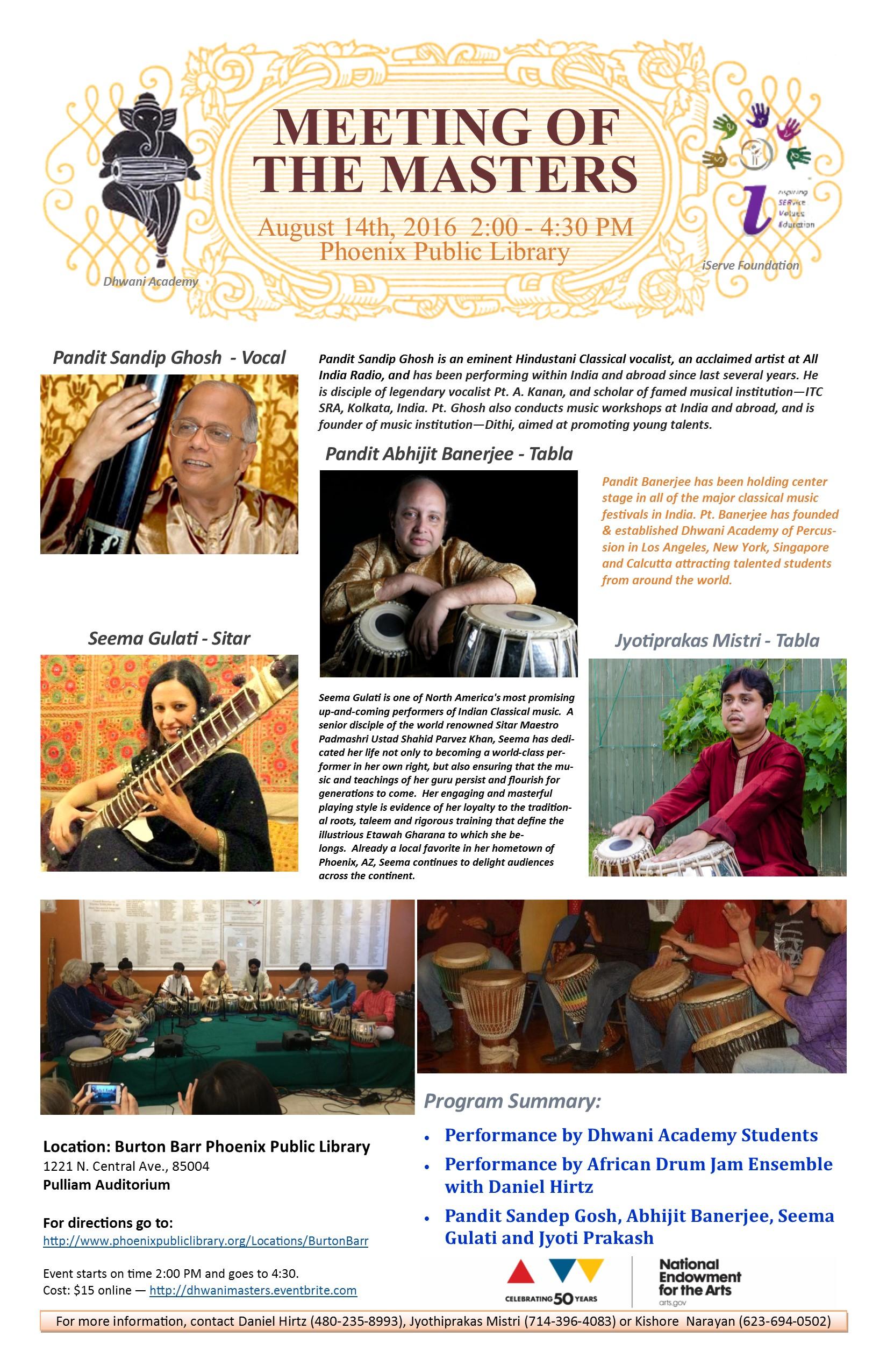 Meeting of the Masters - Dhwani AZ Concert 2016