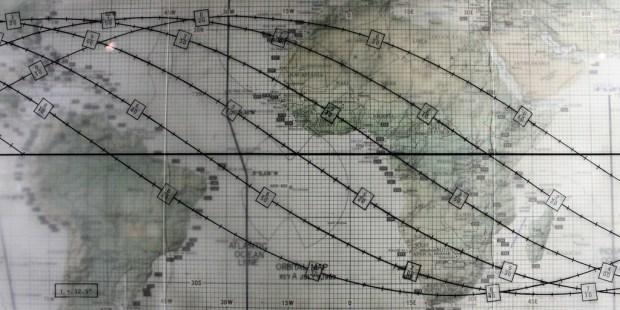 map of Apollo 11 trajectory