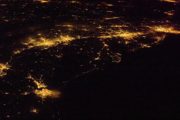 Satellite image - night