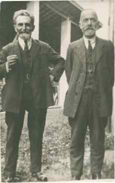 Errico Malatesta y Antoni Gagliardi (Saint Imier, 1922). Sin Atribución.