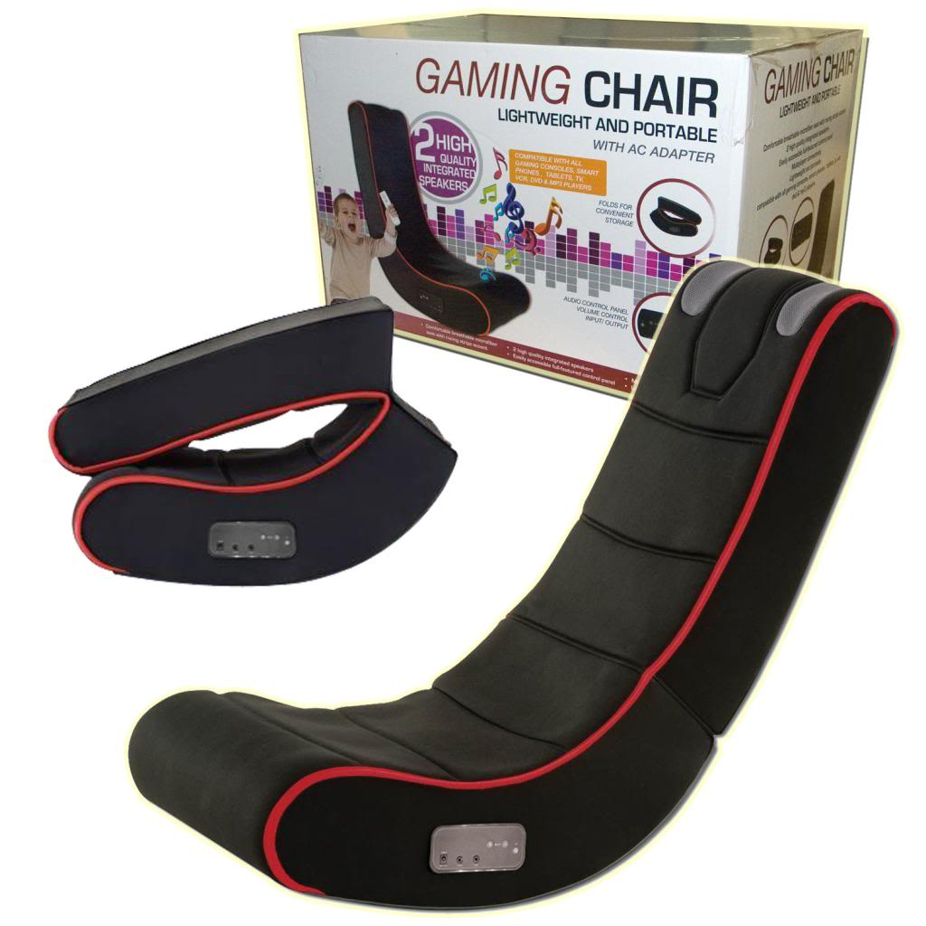 Game Chair With Speakers Adults Or Kids Cyber Rocking Gaming Chair With Integrated Speakers