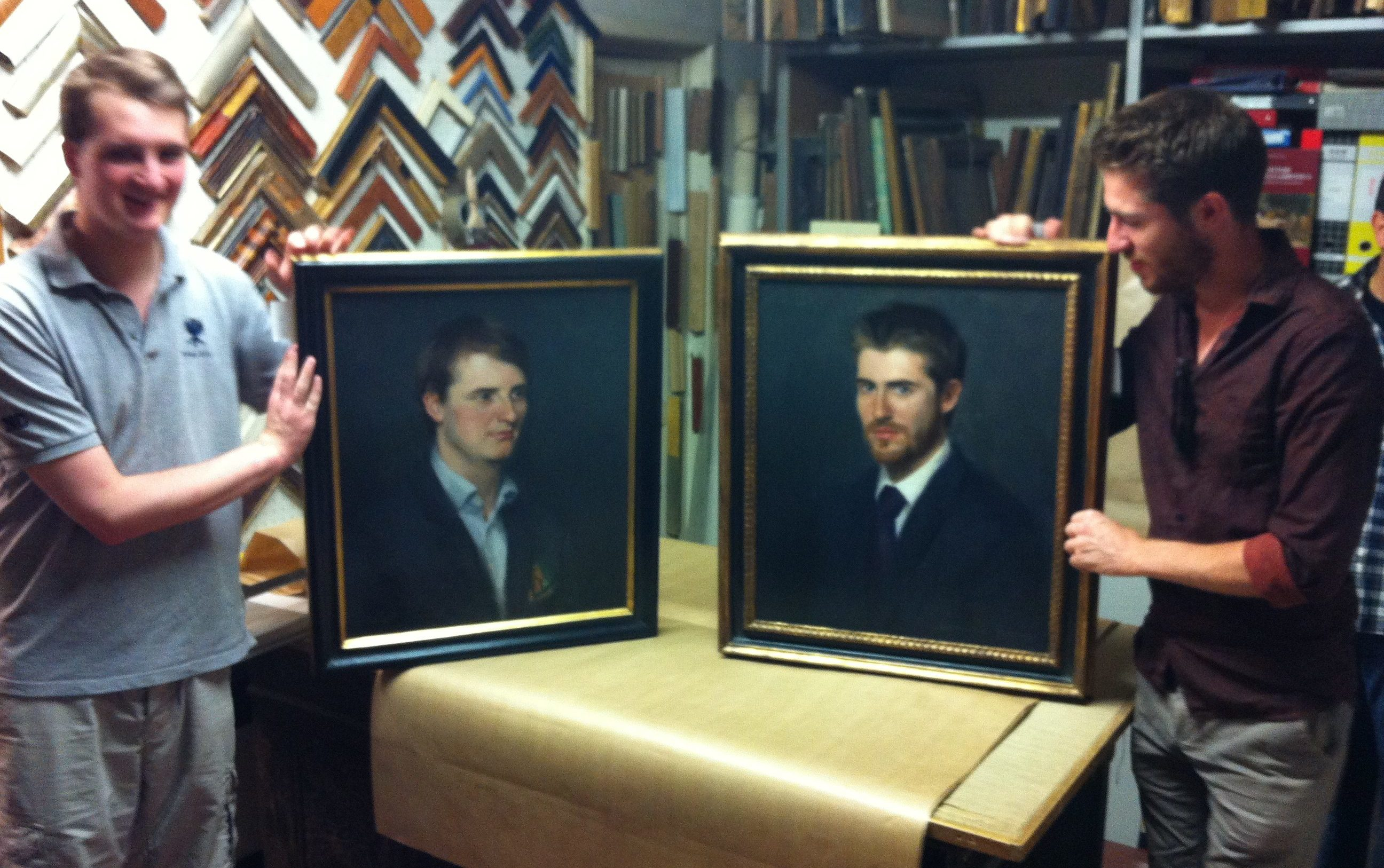 Framing of portraits, Thomas Henderson and Nick Chapmen