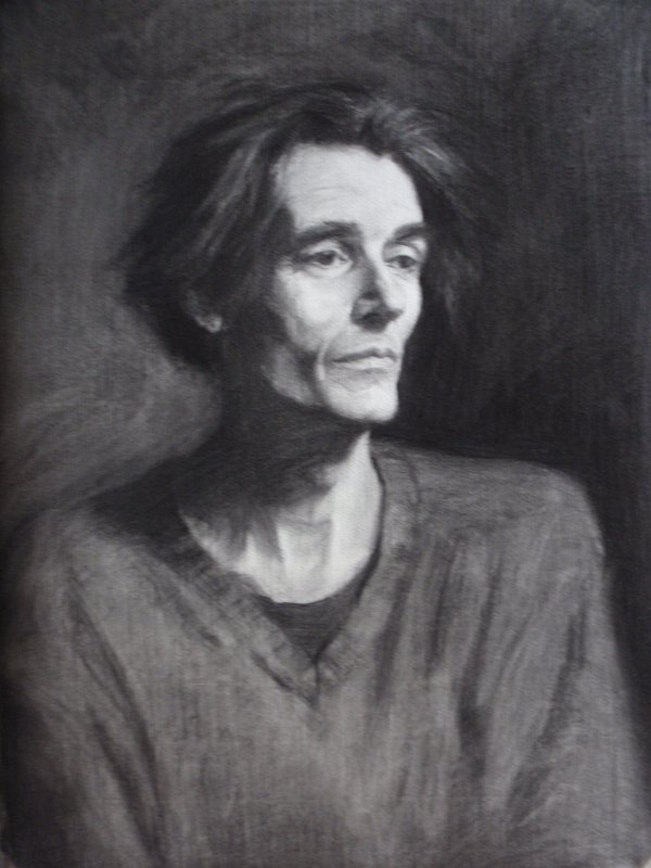Charcoal portrait: Glen the author