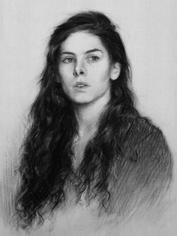 Charcoal portrait: Eleonora