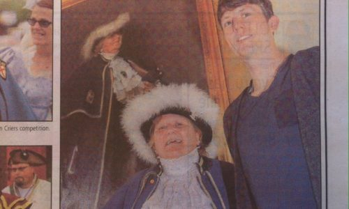 Town Crier portrait in County Times Newspaper