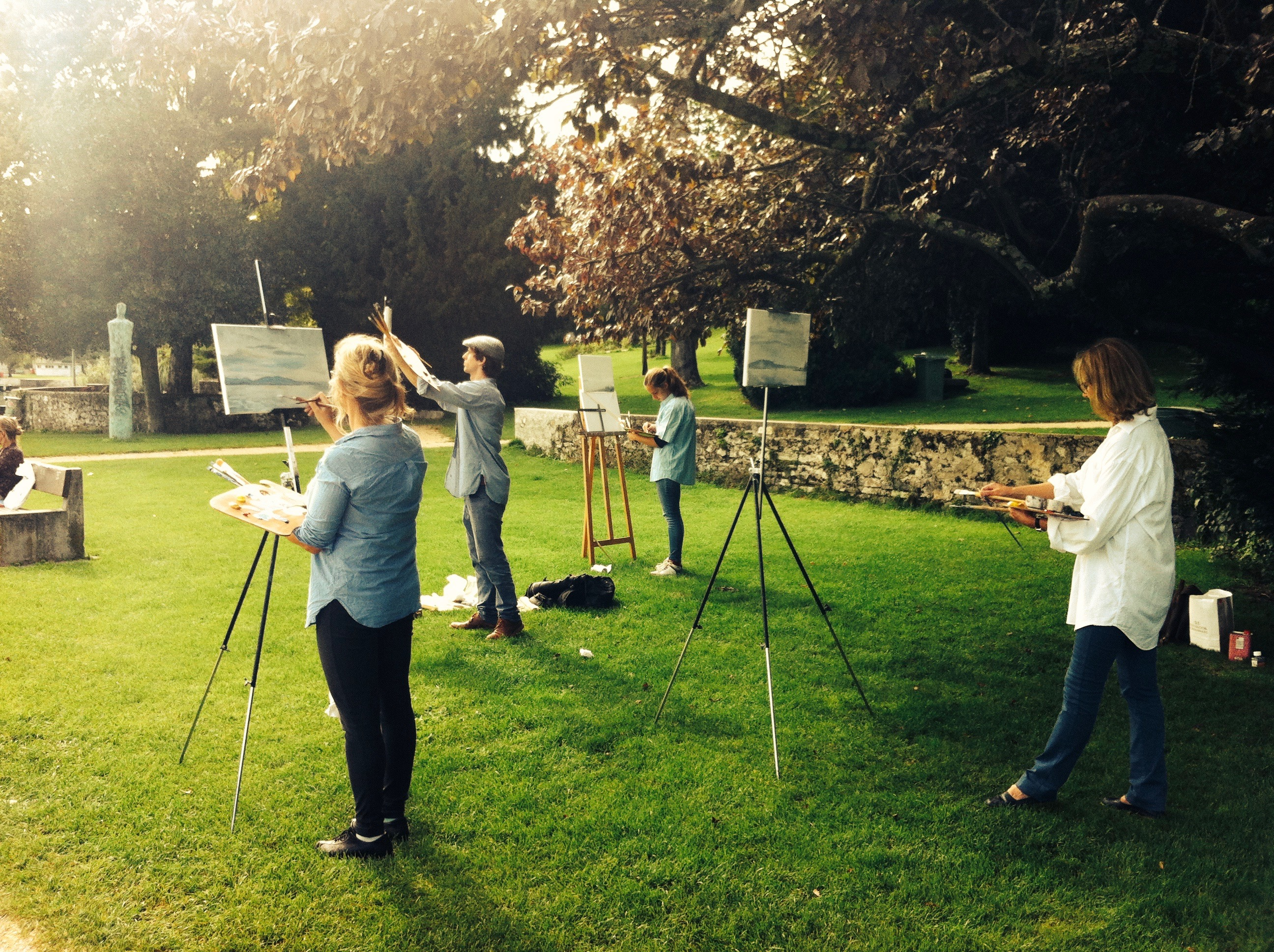Landscape painting workshop
