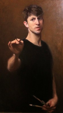 self portrait painting almost completed