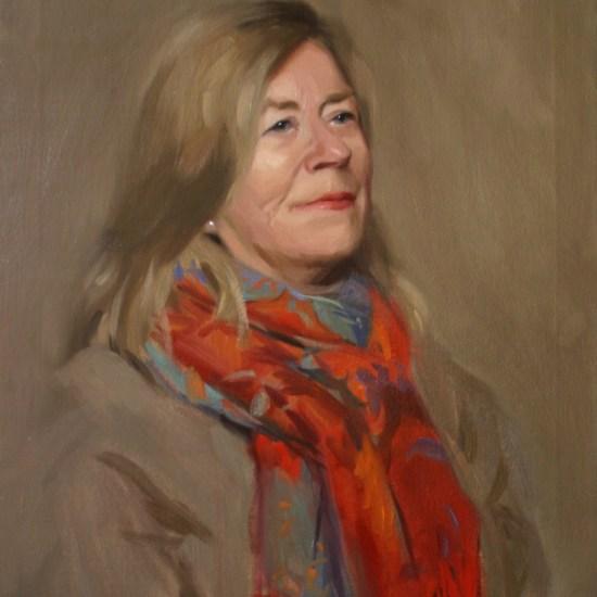 portrait painting, oil on canvas