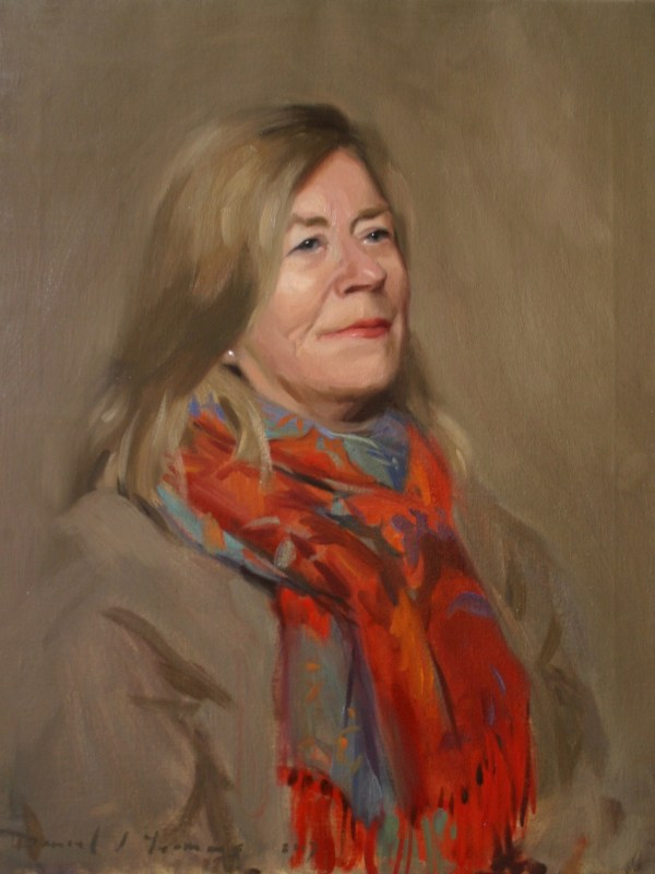 portrait painting, oil on canvas