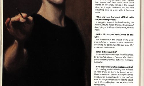 Shrewsbury magazine talking to Daniel Yeomans about painting a self portrait