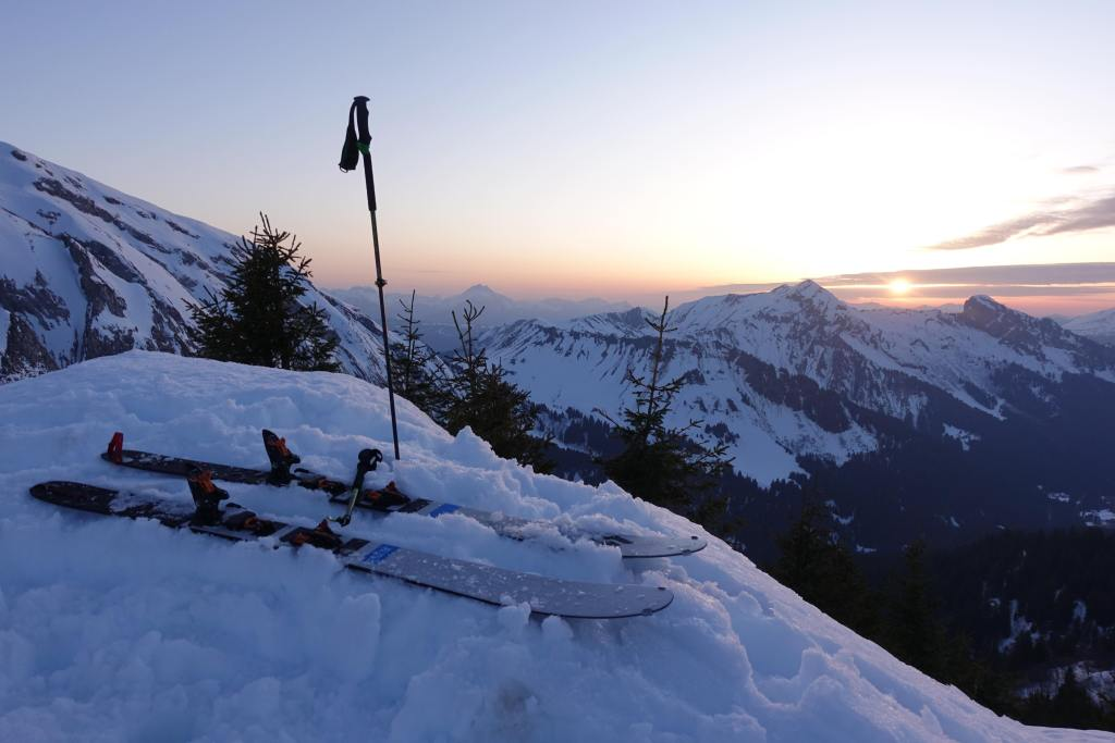 Sunset from Col de Cou, Champery