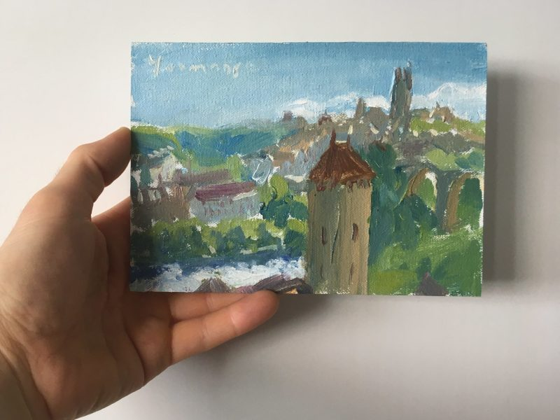 Fribourg towers & river