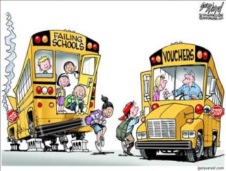 choice government cartoons political education cartoon examples hypocrisy gary federal evidence powerful vouchers varvel statist end competition schools bad funny
