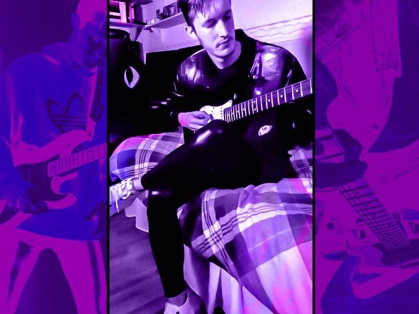 Purple Daniel Kemble Image, 2021, Collage, Music Producer, Guitar