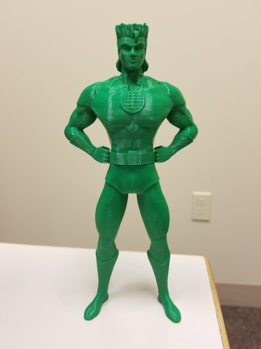 captain planet 3d print in green