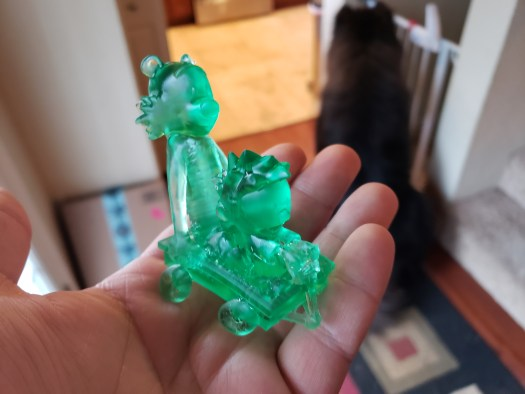 Calvin and Hobbes printed in resin on Kudo3D Bean
