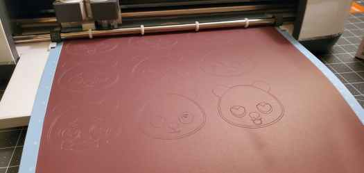 cutting infusible ink black transfer paper