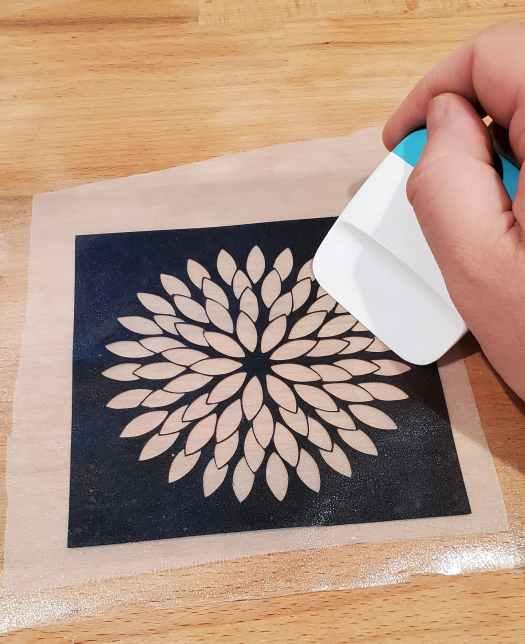 scraping the design onto silkscreen