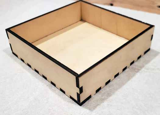 wood box glued together