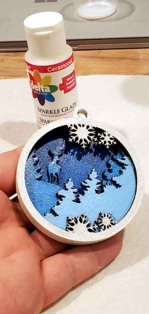ornament painted and glazed