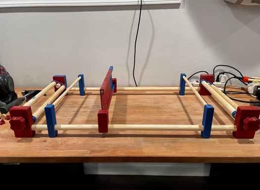 3d printed rigid heddle loom put together
