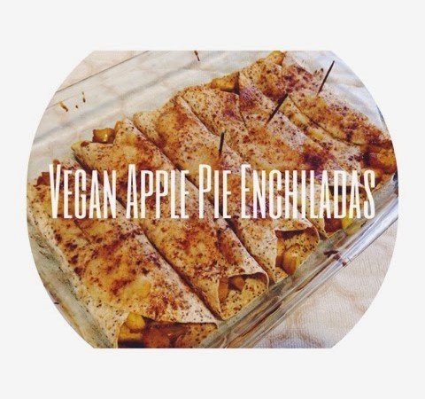 Healthy Vegan Apple Pie Enchiladas