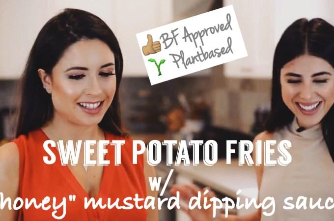 "Sweet Potato Fries & ""Honey"" Mustard Dipping Sauce"