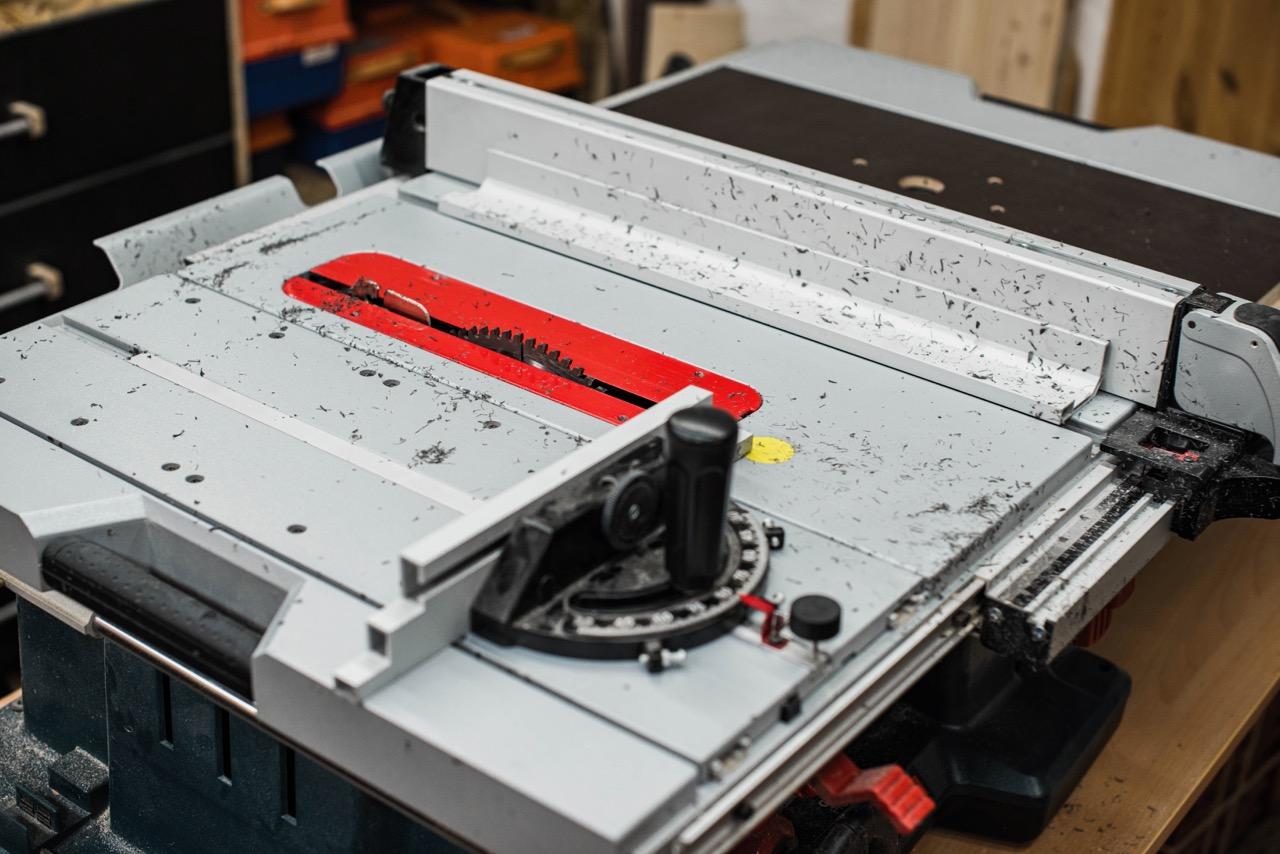 ABS Kunststoff sägen mit der BOSCH GTS 10 XC