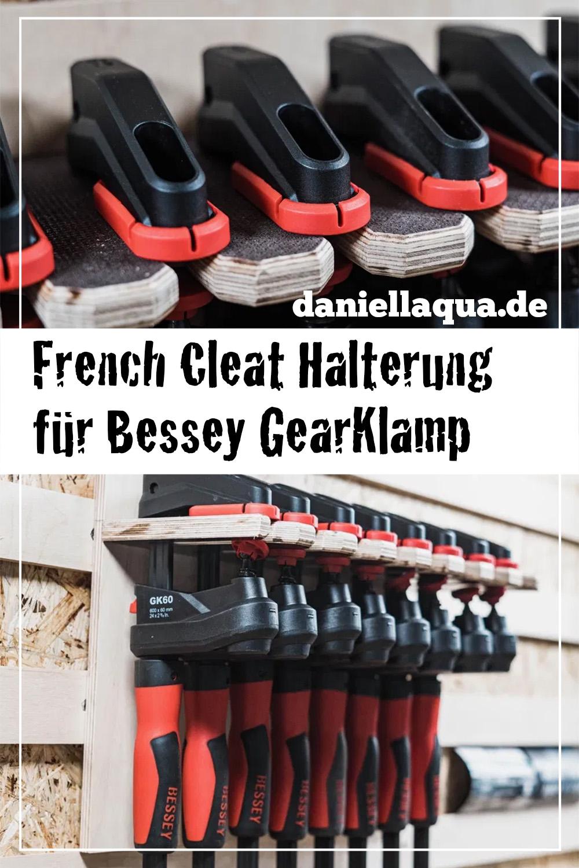 Bessey GearKlamp Getriebezwinge Halterung French Cleat Pin