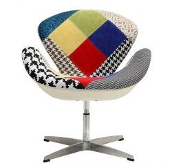 Sillon giratorio patchwork