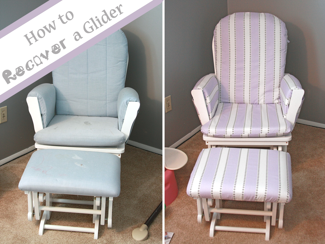 Cushions For Glider Chairs Runs With Spatulas Crafty Fridays How To Recover A Glider