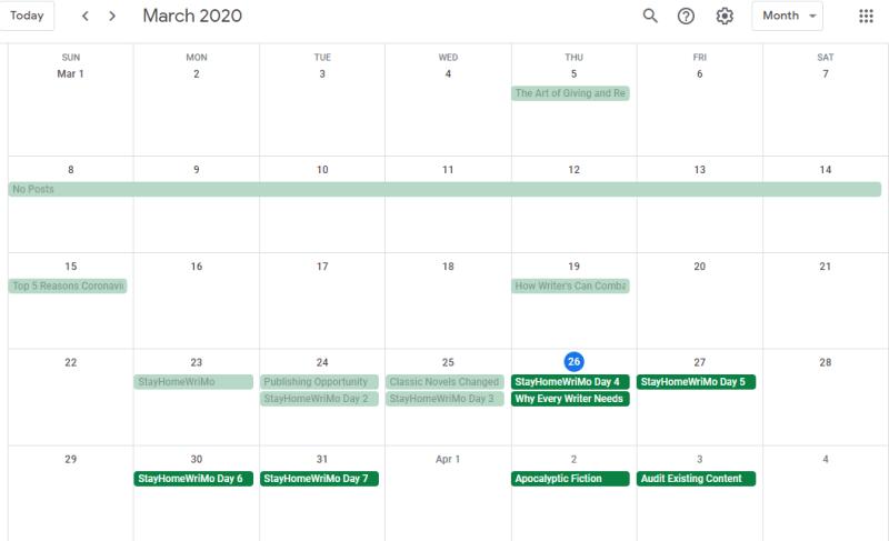 Editorial Calendar - Google Calendar 5