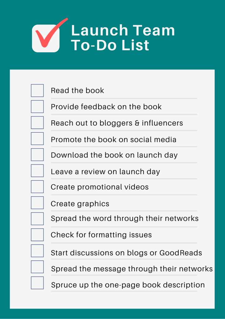 A to-do list for book launch teams