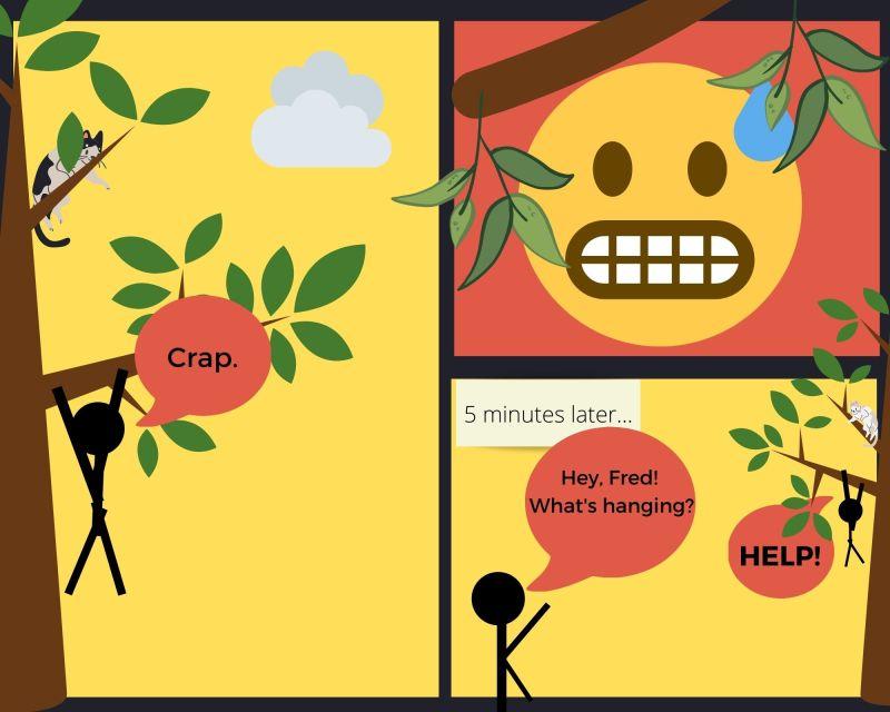 The Rescue comic strip by Danielle Adams