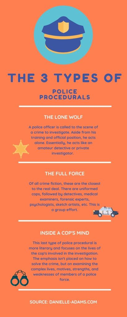 3 types of police procedural infographic
