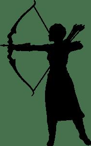 woman, artemis, arrow