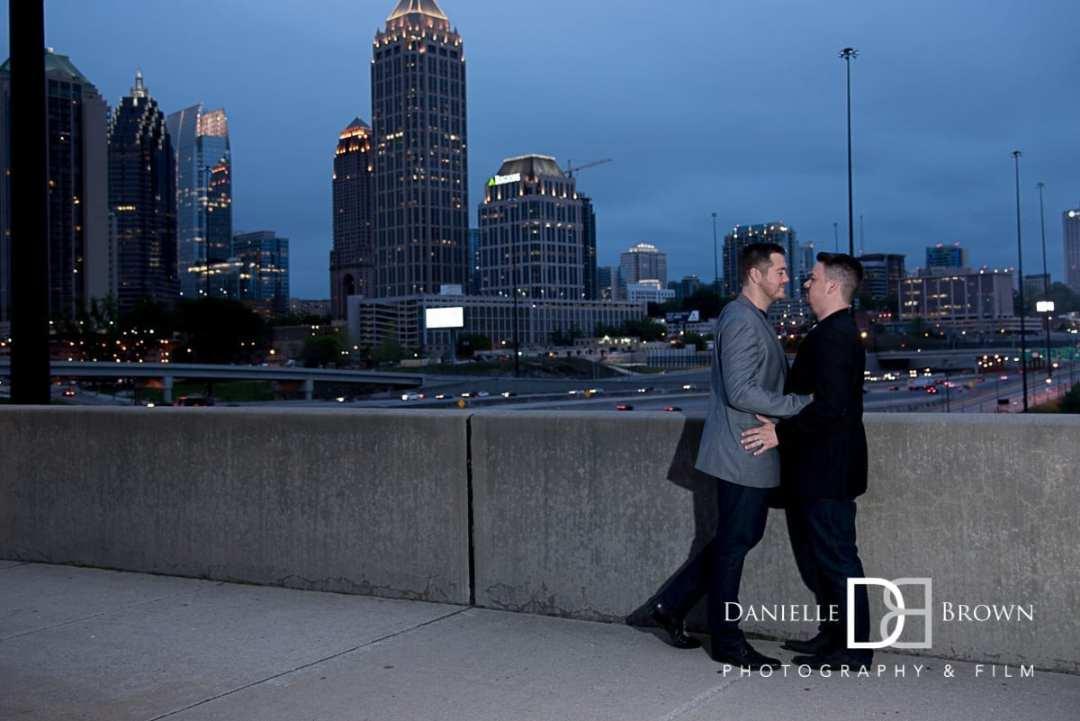 engagement photos atlantic station atlanta wedding photographer