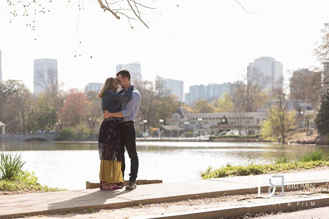 piedmont park engagement photographer | wollschlager