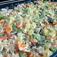 Maionese de legumes com frango