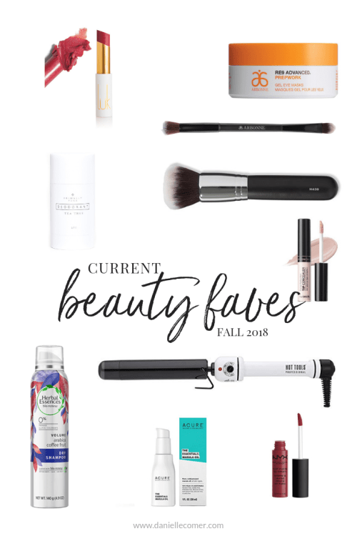 Current Beauty Faves - Danielle Comer Blog www.daniellecomer.com