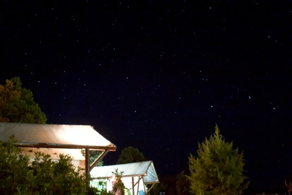Spark Retreat Glamping Zion National Park night sky - Danielle Comer Blog