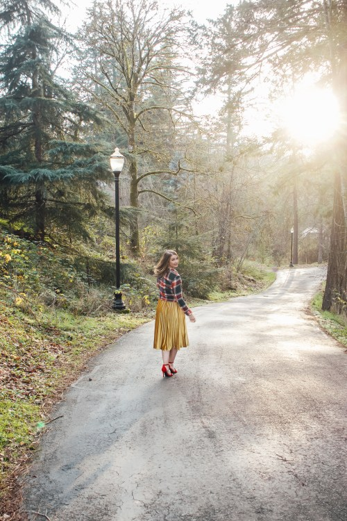 flannel and gold skirt 7 - Danielle Comer Blog
