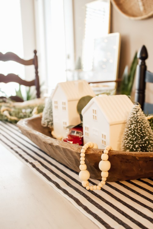 cozy winter decor target hearth and hand wooden garland - Danielle Comer Blog.jpg