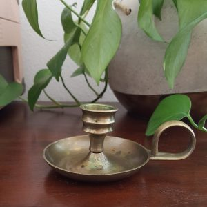 small brass candlestick-South by PNW Vintage