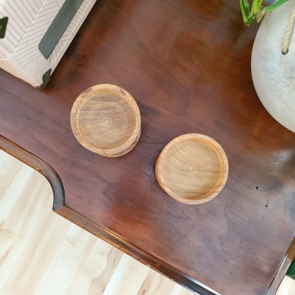 wooden candle holders - South by PNW Vintage