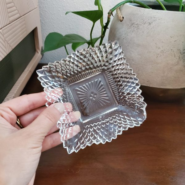 033 - small crystal dish - South by PNW Vintage