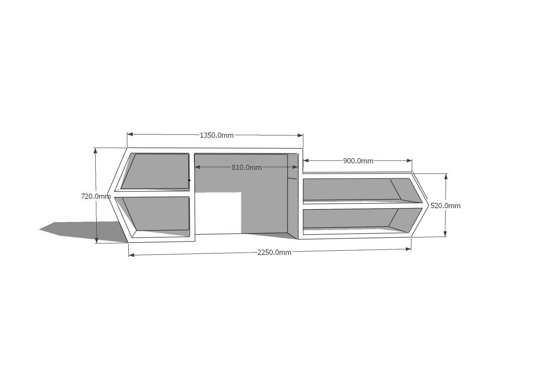 Reception Desk  Dimensions 3  DanielleDdesigns